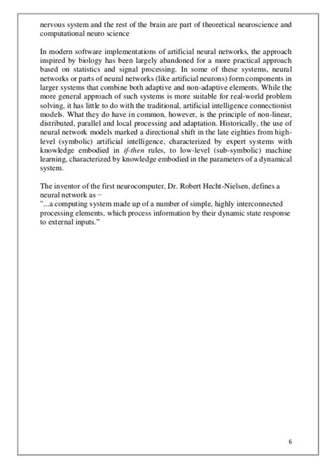 Artificial Neural Network report