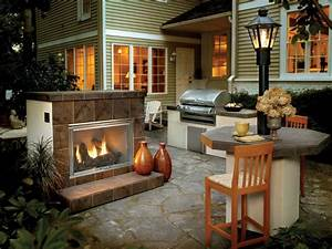 Outdoor Natural Gas Fireplace On Custom