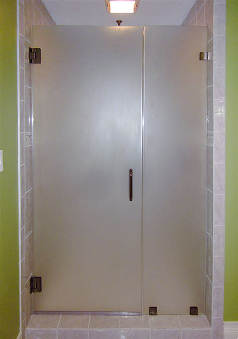 frosted shower doors frameless showerdoors