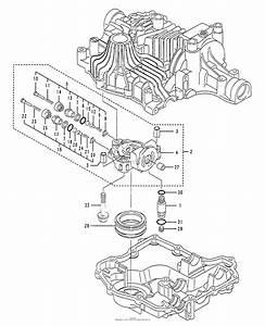 Husqvarna Tuff Torq K61 Transaxle Parts Diagram For Center