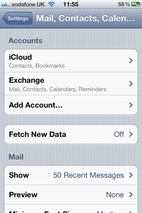 exchange email on iphone iphone iphone exchange setup