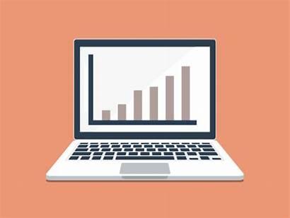 Laptop Analytics 3d Animation Vector 2d Graph