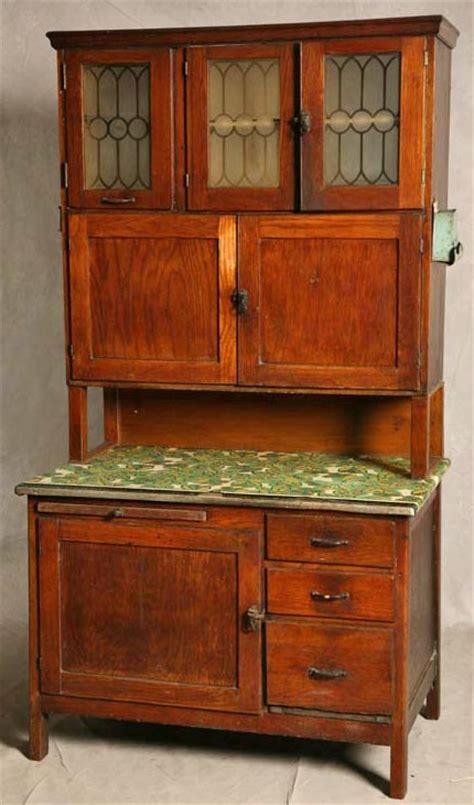 cabinet hoosier style oak 2 piece 3 frosted glass doors 73