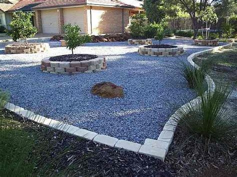 yard ideas without grass river rock landscaping ideas front yard design front yards without grass home design home design