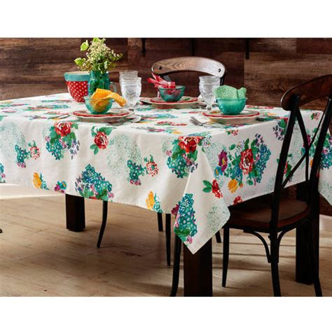 cloth table skirts walmart the pioneer woman country garden tablecloth 52 quot x 70 quot in