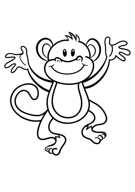 Coloring Outlines by Monkey Template Animal Templates Ideas For Classroom