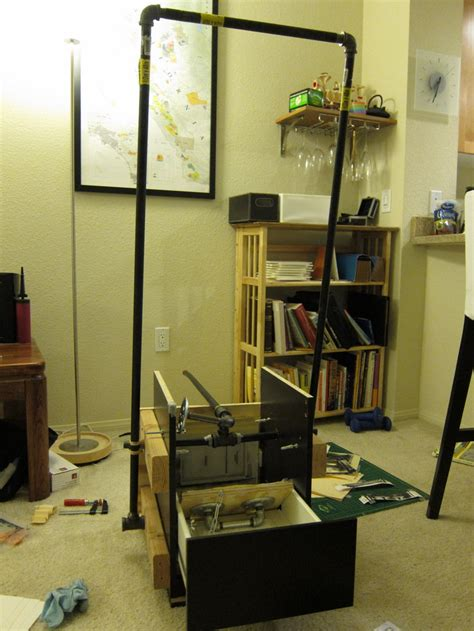 printing press made from a chest of drawers ikea hackers