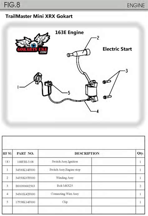 connecting wire assy for trailmaster mini xrx electric
