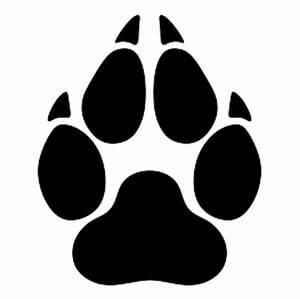 Image - Wolf-paw-print-silhouette.png | Animal Jam Clans ...