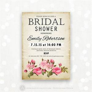 printable bridal shower invitation retro invite shower the With free printable vintage wedding shower invitations