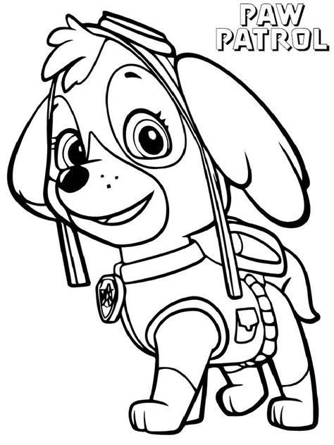 skye paw patrol coloring pages   print skye paw patrol coloring pages