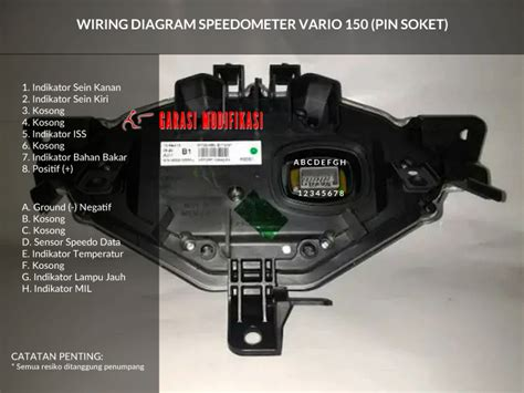 wiring diagram speedometer honda vario 150 child garasi modifikasi