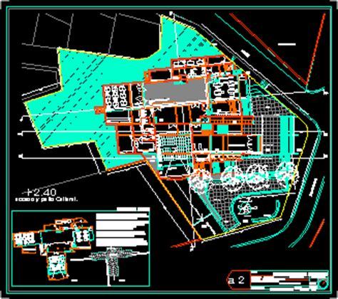 cultural center  ceramic artwork  dwg plan