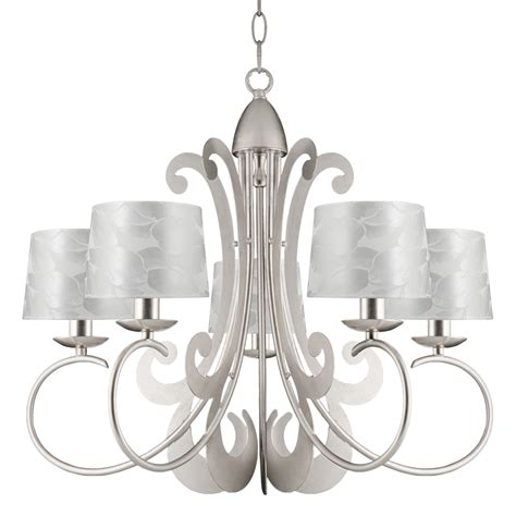 ajp lighting 3025la 5ppp mariann 5 light silver leaf