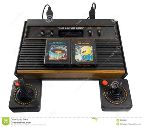 Games Console Retro Vintage From Japan Stock Photo Image
