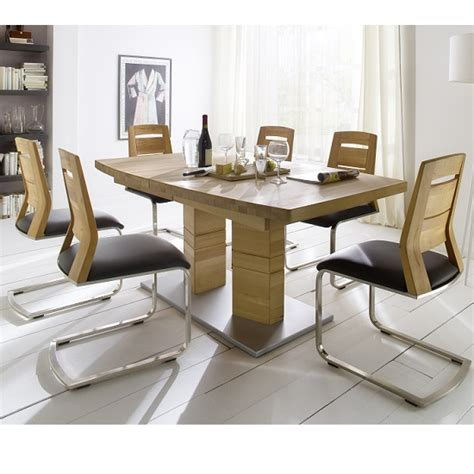 cuneo extendable dining table bianco boat shape 6 chairs