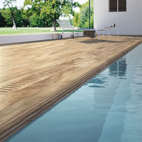 wood effect porcelain tiles can be used in areas such