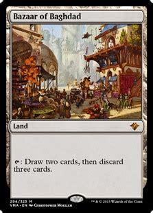 bazaar  baghdad land cards mtg salvation