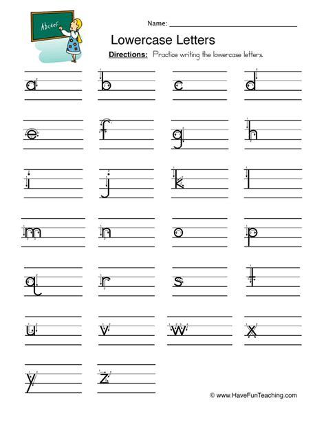 alphabet worksheets teaching