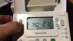 Programmation Du Thermostat Honeywell Cm707