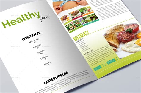 Food Brochure Templates by Healthy Diet Food Brochure Template By Erseldondar