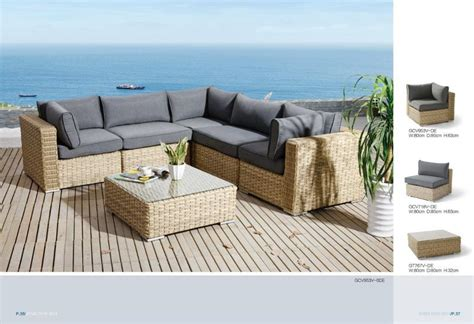housses canap grand salon de jardin en rsine tresse ronde osier naturel