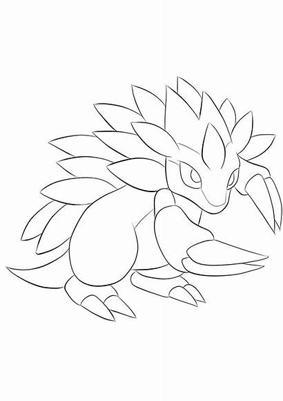Pokemon Coloring Sandslash Pages Ice Generation Type