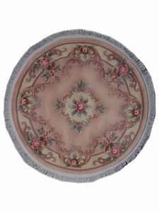 Tapis Rond Beige : kangshi aubusson rond beige ro tapis chinois n 1616 150x150cm ~ Teatrodelosmanantiales.com Idées de Décoration