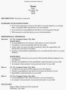 Resumes Templates Combination Resume Template
