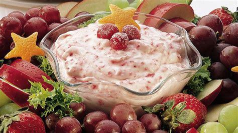 Cranberry Fluff Fruit Dip With Fruit Wreath Recipe