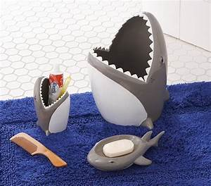 Shark bathroom accessories pottery barn kids for Shark bathroom accessories