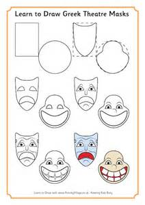 How to Draw Ancient Greek Masks