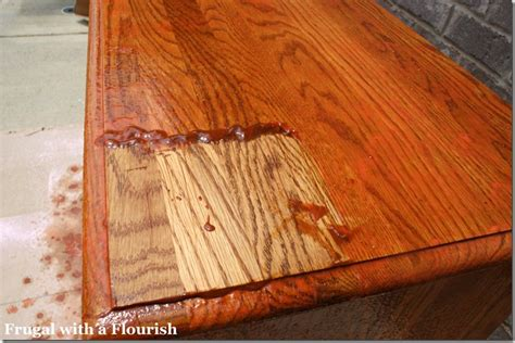 sanding and staining wood table frugal with a flourish how to strip and restain a dresser