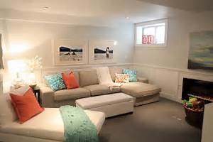 Beach House City Room Tour Basement Family Room Basement Design Ideas For Family Room
