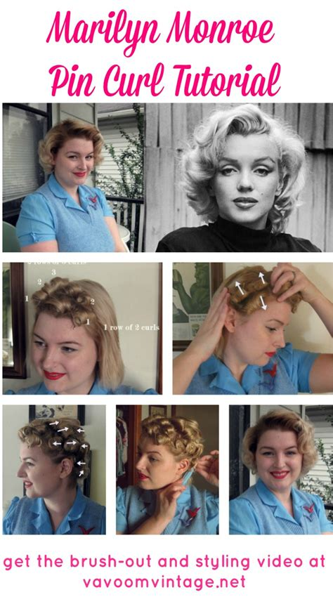 1950s Hairstyle Tutorial by Va Voom Vintage Vintage Fashion Hair Tutorials And Diy
