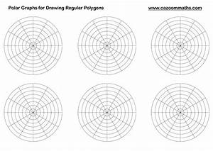radian graph paper polar graphs for drawing regular polygons math