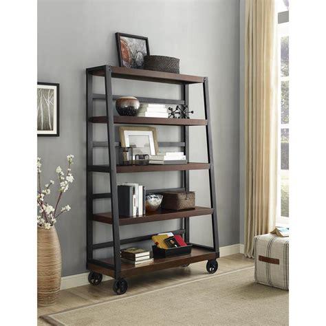 ameriwood 5 shelf bookcase south shore freeport 5 shelf narrow bookcase in chocolate