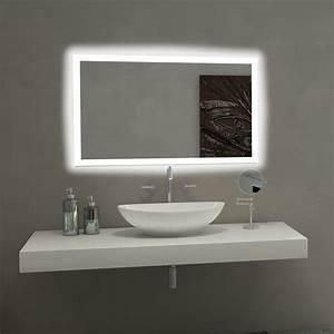 Paris, Mirror, Rectangle, Bathroom, Mirror, With, Led, Backlights, -, Walmart, Com
