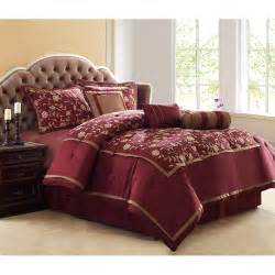 francesca 8pc comforter set burgundy polyester comforter set bedding comforter set