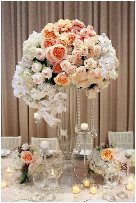 Wedding Tall Centerpiece Coral wedding centerpieces