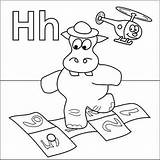 Coloring Hopscotch Letter Alphabet Preschool Hat Helicopter Activities Letters Hippo Template Coloringpages4u Dora Crafts Halloween 1000 Zoo sketch template