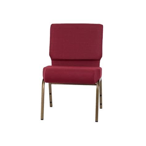 hercules series 21 w stacking church chair in burgundy