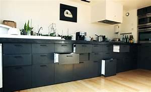 Meuble De Cuisine Noir : woodmood meubles ~ Teatrodelosmanantiales.com Idées de Décoration