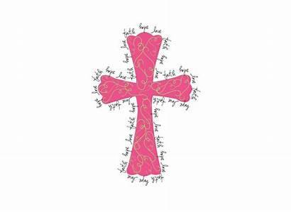 Cross Pink Crosses Clipart Clip Cliparts Pretty