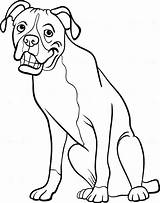 Boxer Coloring Dog Pages Cartoon Line Dogs Drawing Guard Colouring Terrier Boston Cowardly Clipart Happy Printable Sketch Getdrawings Template Courage sketch template