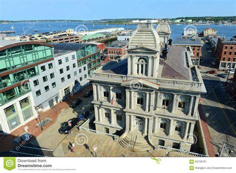 vieux port de portland et bureau de douane maine etats unis photo 233 ditorial image 56709761
