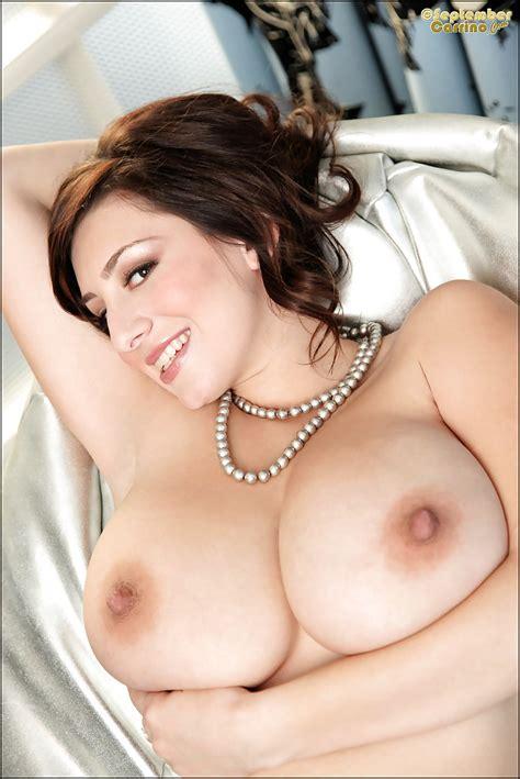 Big Tits Brunette Babe September Carrino Teases Her Hairy