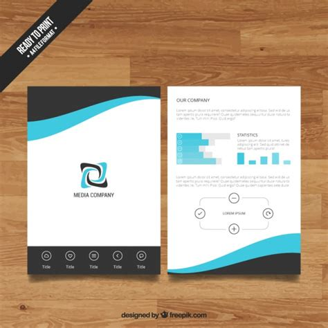Company Booklets Templates by Company Brochure Template Vector Free Download