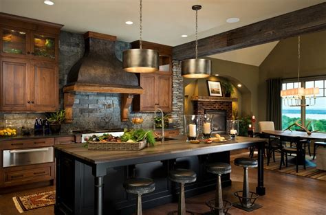 Rustic Kitchens : 100 Marvelous Kitchen Design Ideas With Stone Walls