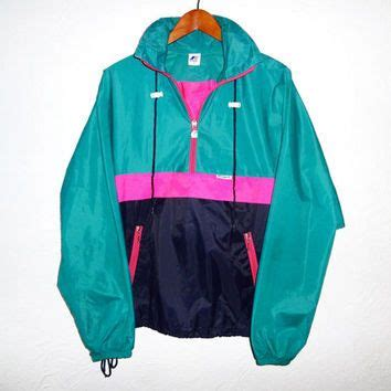 colorful windbreakers 90s vintage windbreaker color block neon from